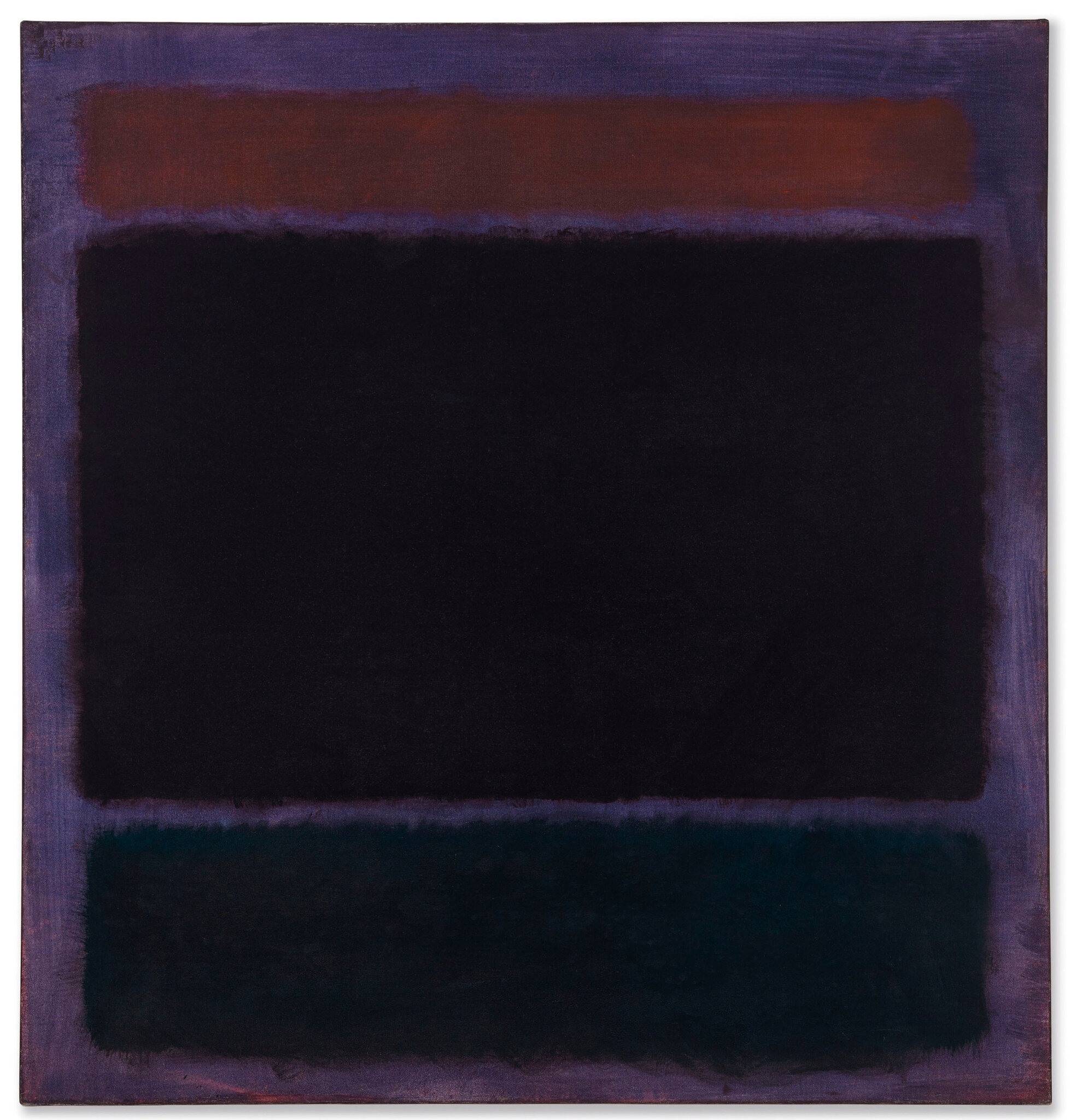 Tableau Moderne Vertical Mark Rothko 1903 1970 Untitled Rust Blacks On Plum Alain R