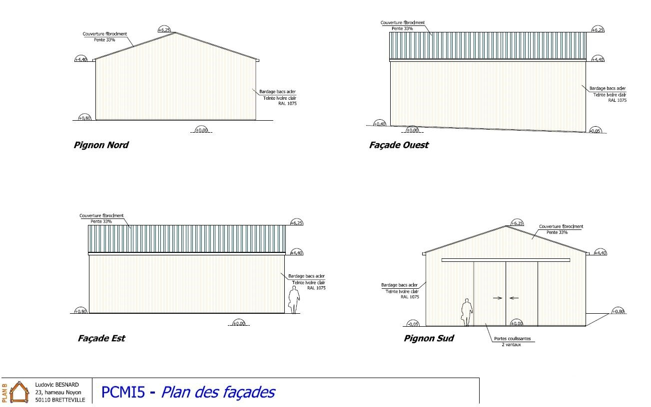 Plan De Charpente De Hangar Construction D 39un Hangar Plan B
