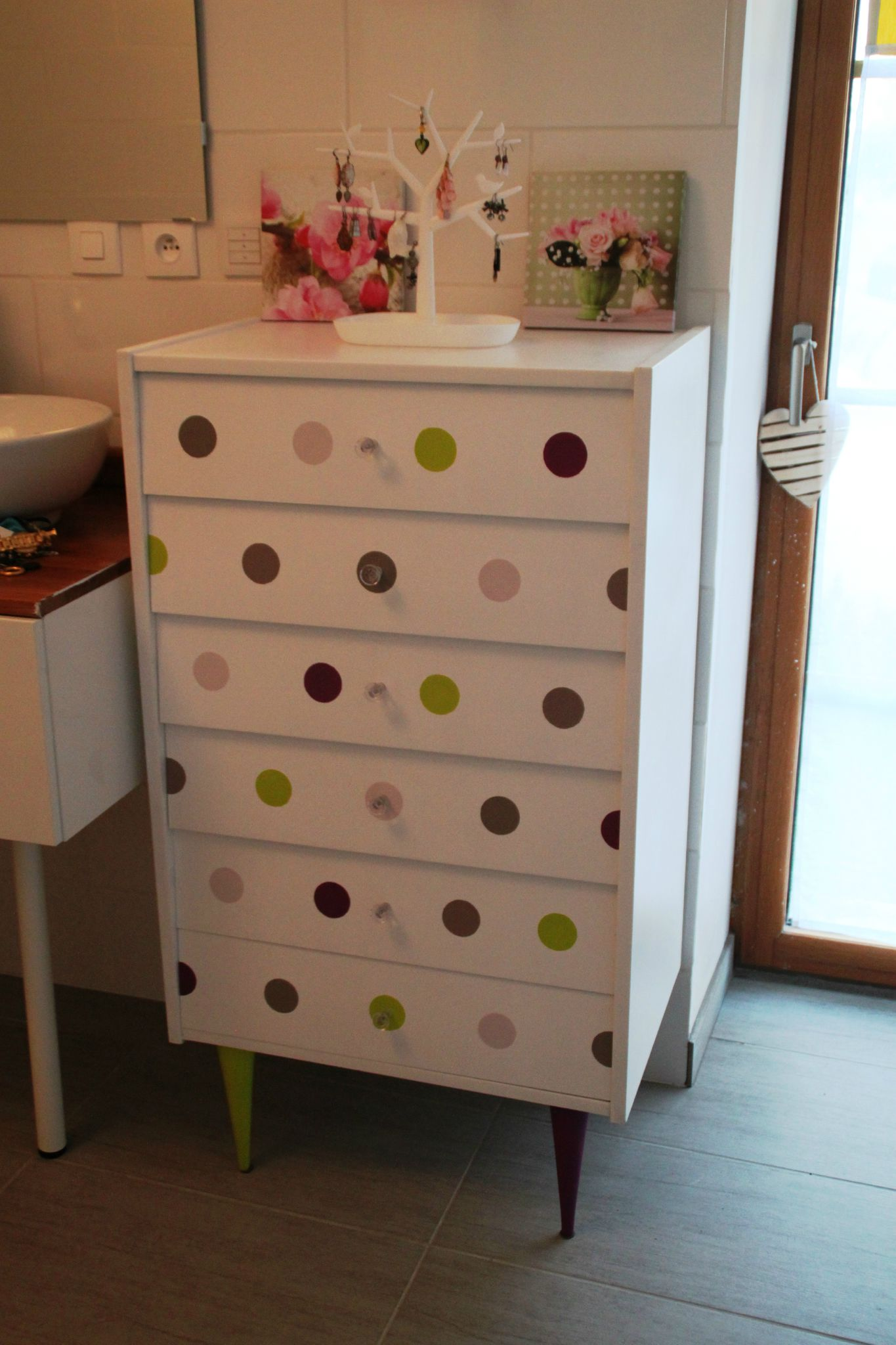 Cuisine Taupe Ikea Commode Pastel Dots - Diy Relooking Mobilier - Créer Ma Déco!