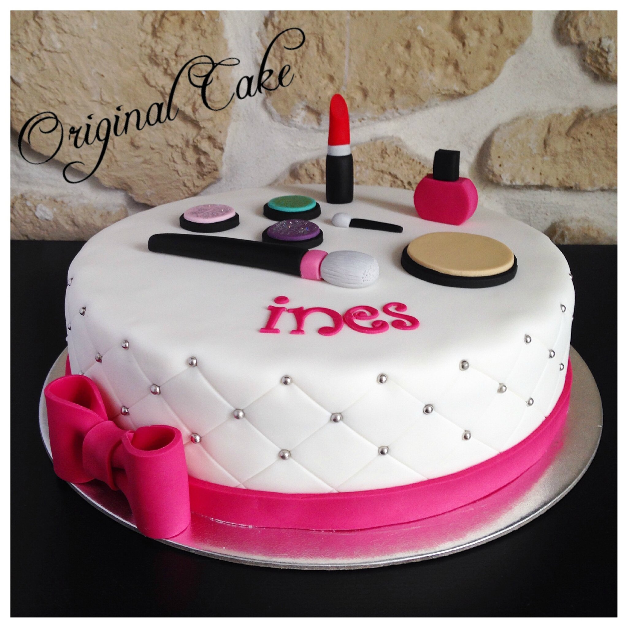 Decoration Anniversaire Girly Gâteau Maquillage Girly Original Cake