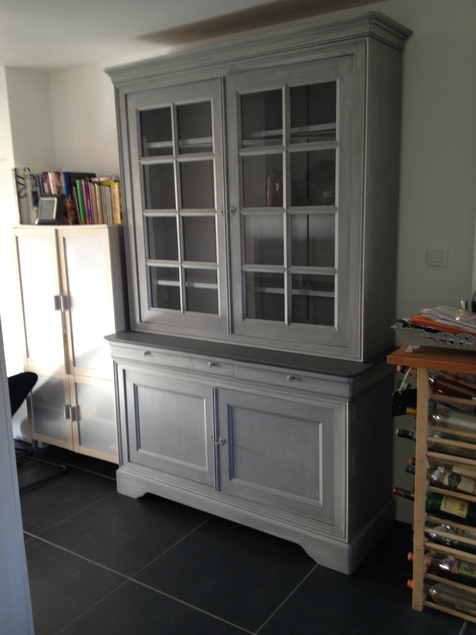 Meuble Rustique Repeint Good Meuble Gris With Meuble Repeint En Gris