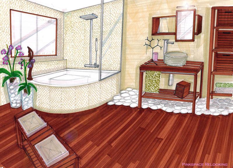 Relooking salle de bain SPA suite et fin (75) - PINKSPACE - Audrey
