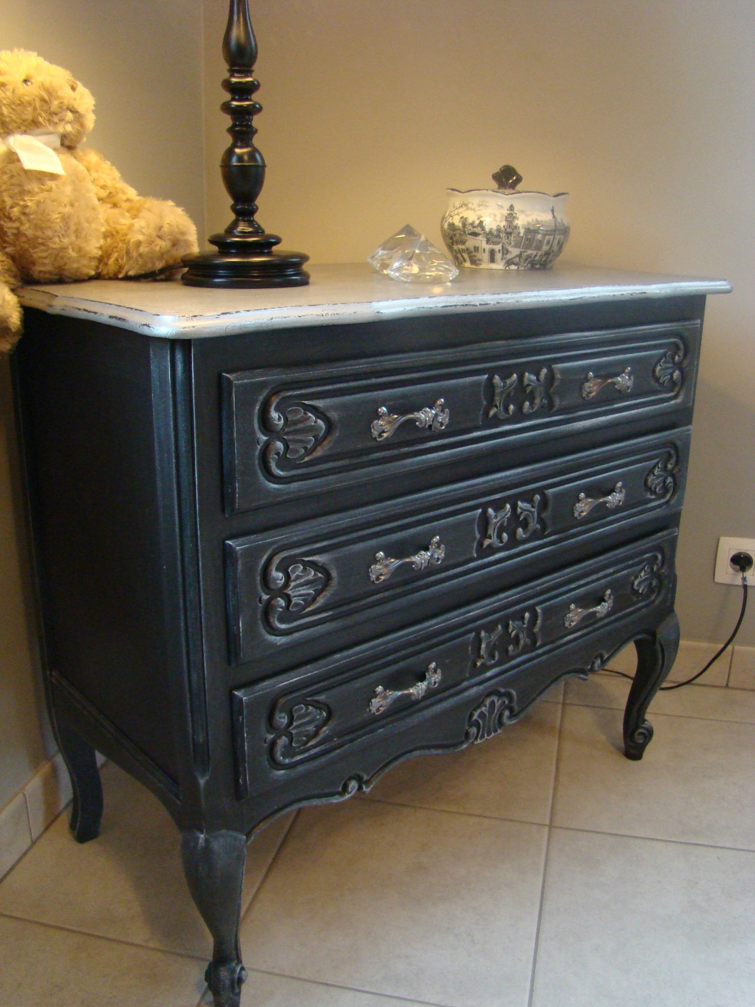 Commode Style Louis Xv Relooker Relooking Meubles - Relooking De Meuble Ancien