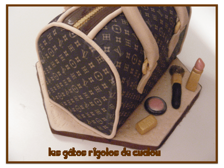 "Decoration Pour Gateau Au Chocolat Gâteau ""sac à Main Louis Vuitton"" - Les Gâtos Rigolos De"