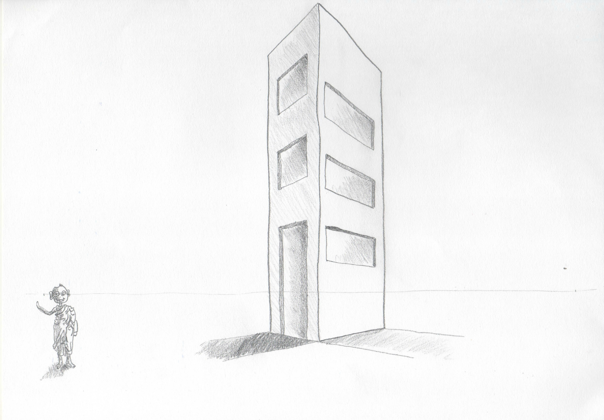 Dessin Immeuble En Perspective Devoir N1 Quotinitiation Au Dessin De Perspective