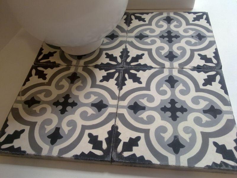 Nettoyer et rincer les carreaux de ciment chambre Pinterest - prix carrelage salle de bain