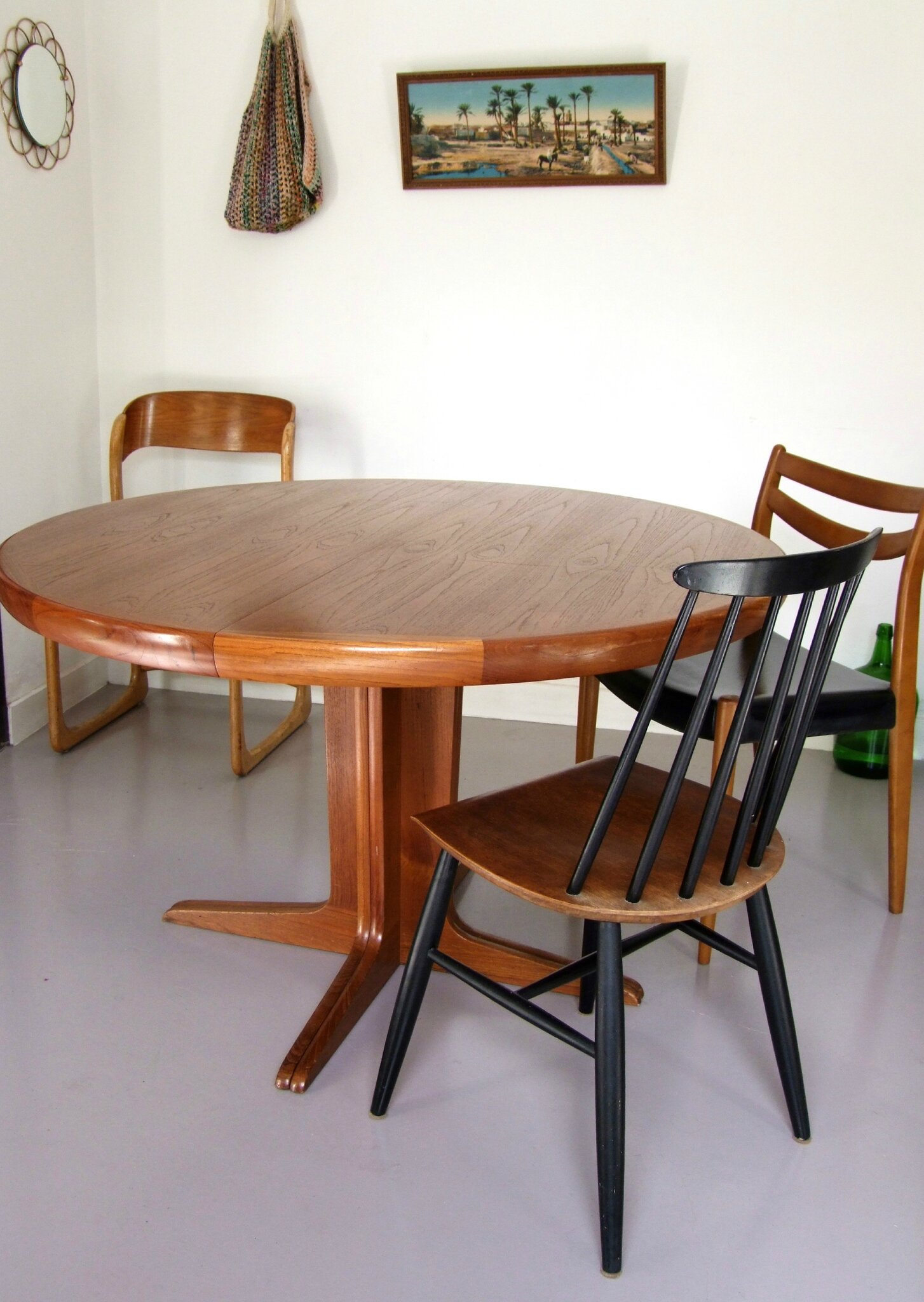 Table Ronde Scandinave Rallonge Table Ronde Extensible Scandinave Kofod Meubles Vintage Pataluna