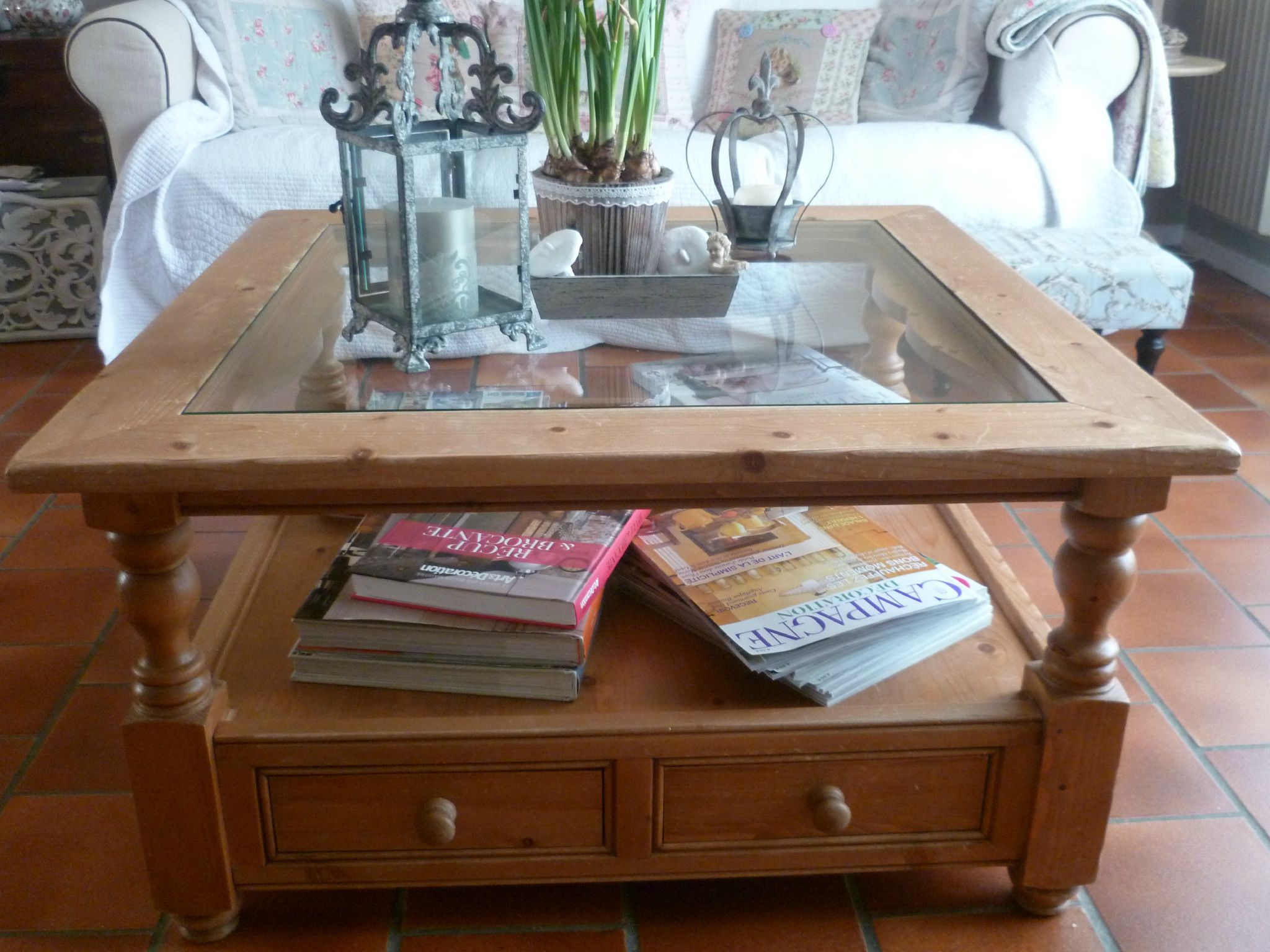 Relooker Table Basse En Pin Relooking Chines Et Cie Patines Et Petits Points