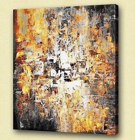 Tableaux deco design  peintures abstraites sur toile - MATHI DESIGN