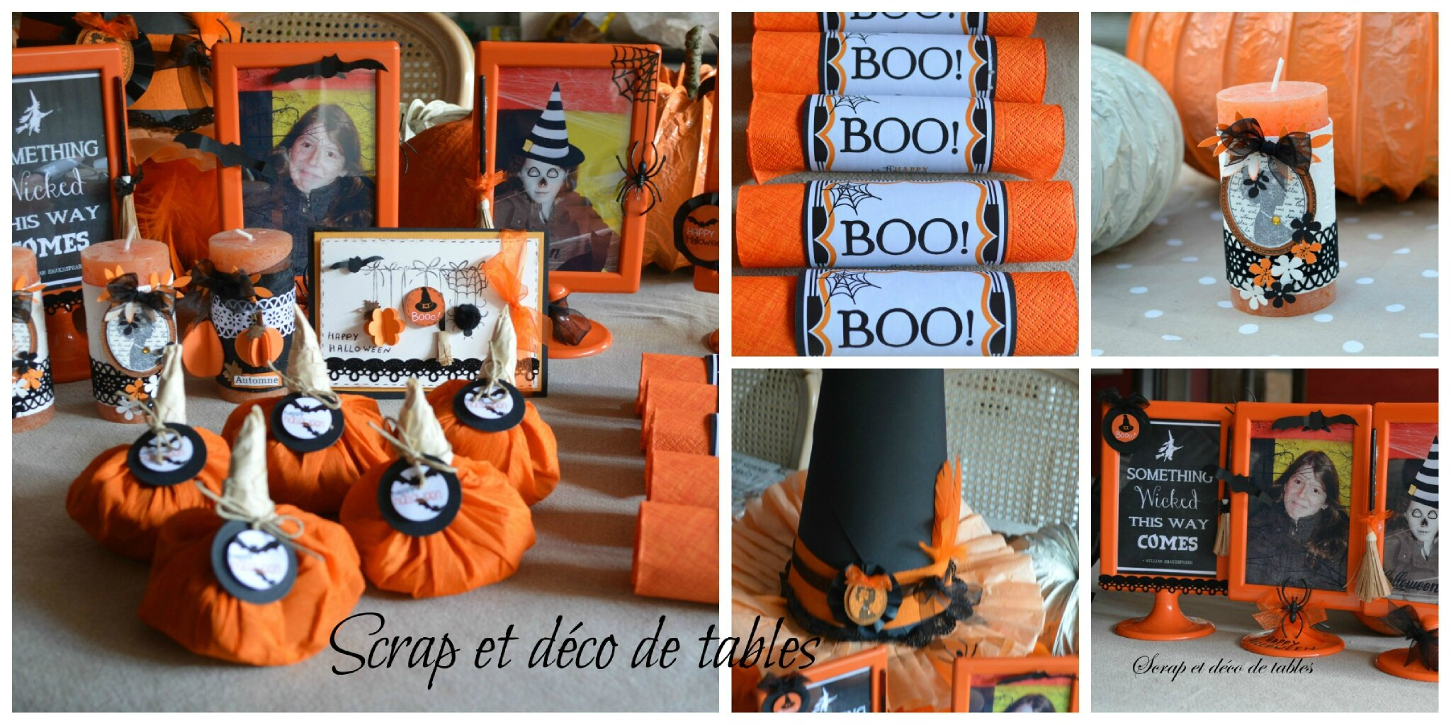 Decoration De Table Pour Halloween Decorations Pour Ma Table D Halloween Scrap Et Déco De Tables