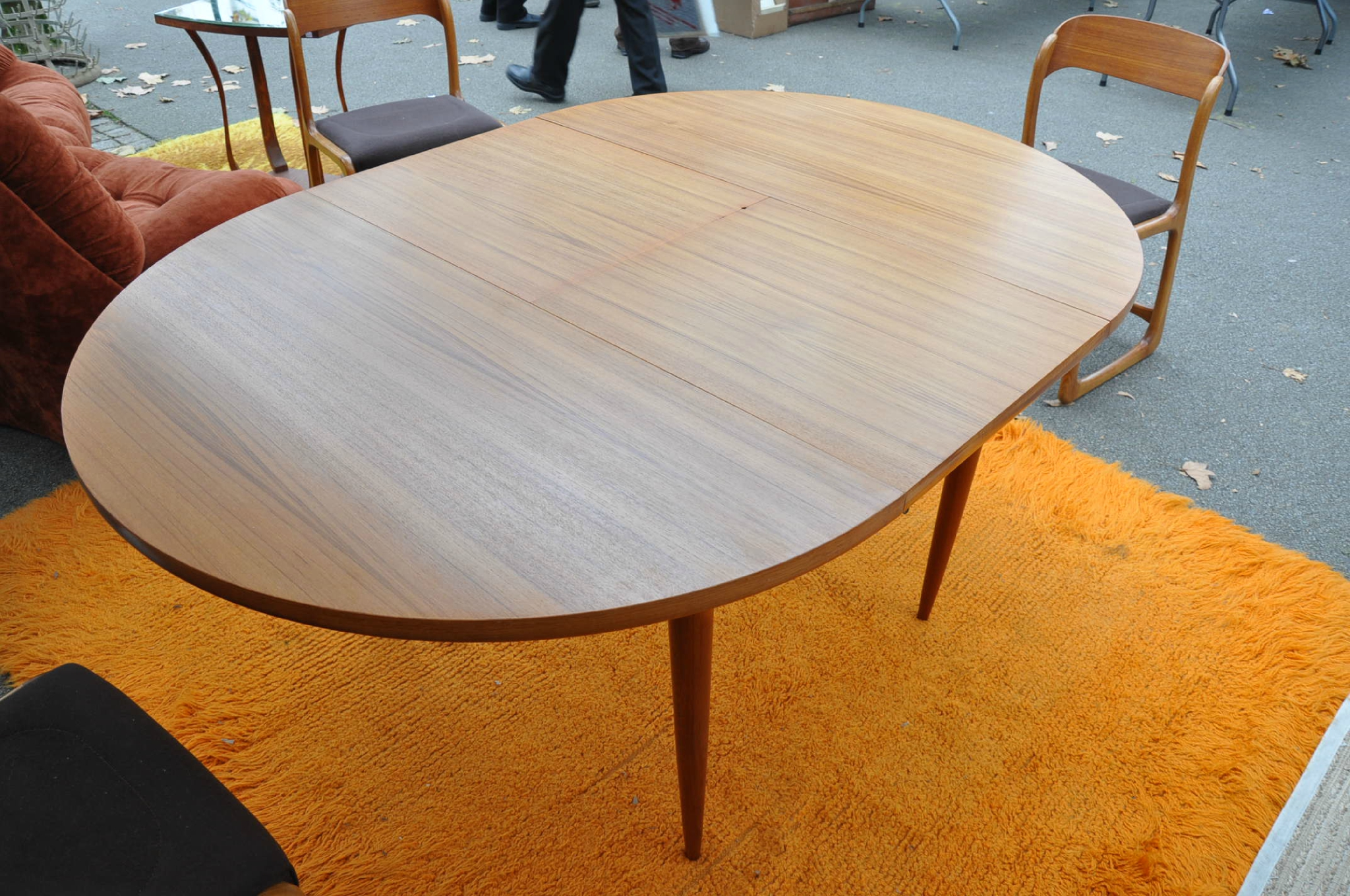 Table Ronde Scandinave Rallonge Table Ronde Teck De Type Scandinave Article Vendu Antiquités