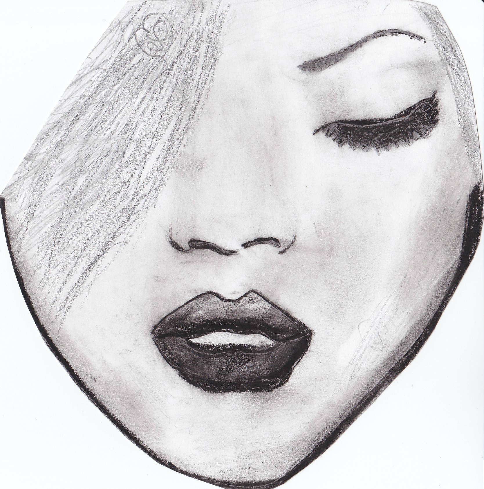 Photo Facile A Dessiner Portrait Rihanna Un Amour De Dessin
