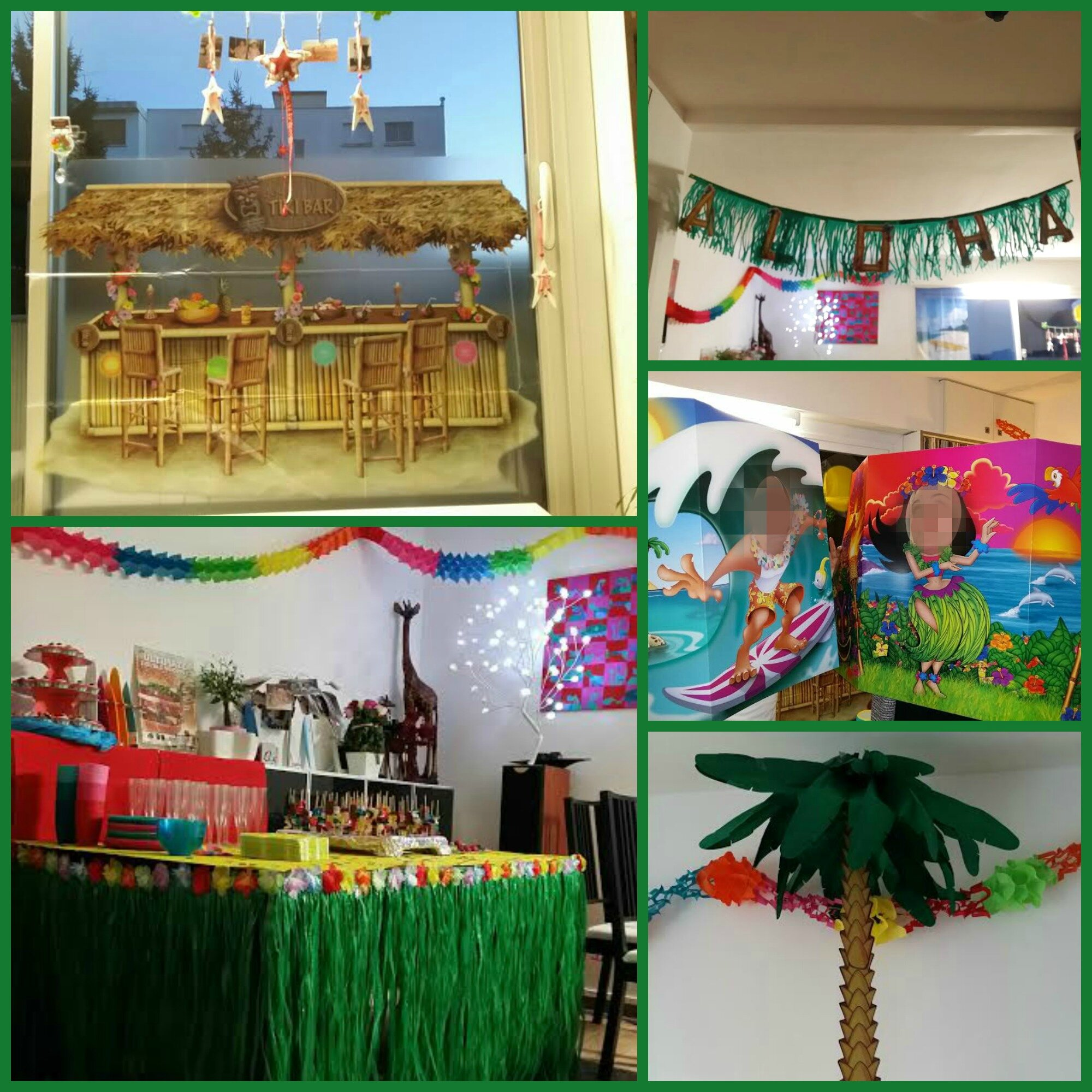 Decoration Anniversaire Hawaii Decoration Hawai Fait Main