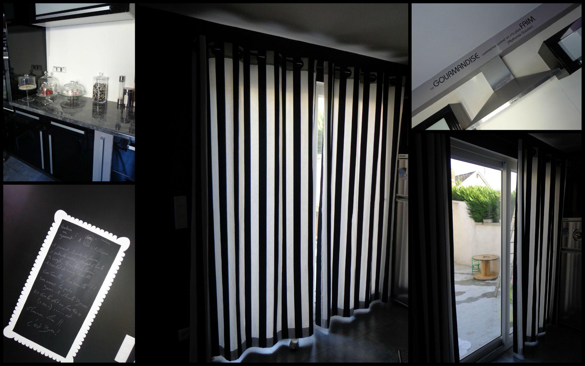 Rideau Noir | Rideau Occultant 140 X 240 Cm Lourd Solide A Oeillets ...