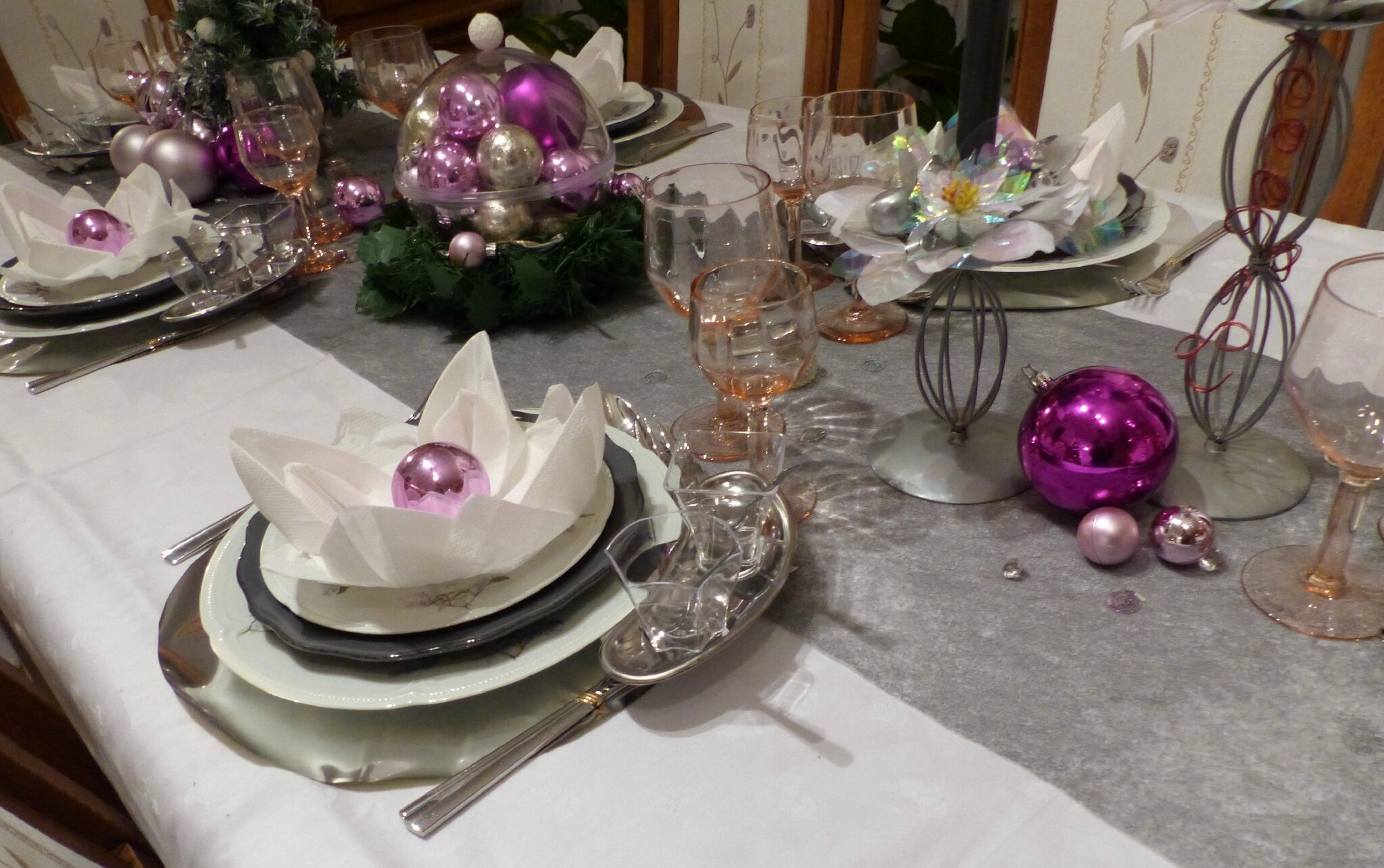 Deco Table Rose Et Blanc Deco Table De Noel Gris Et Blanc