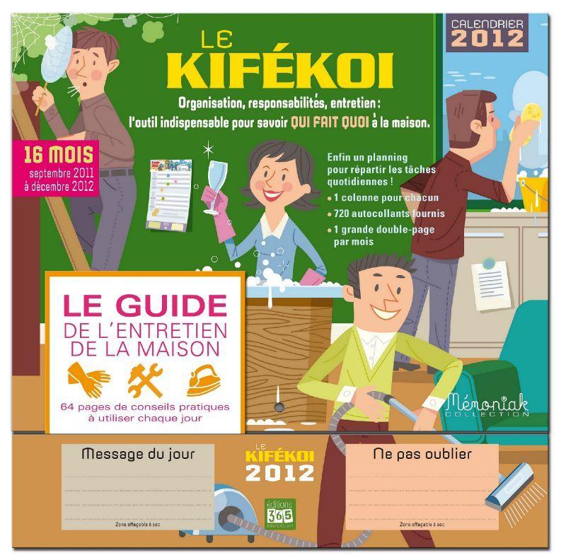 Le KIFEKOI, votre outil pour planifier et répartir des tâches - les taches menageres