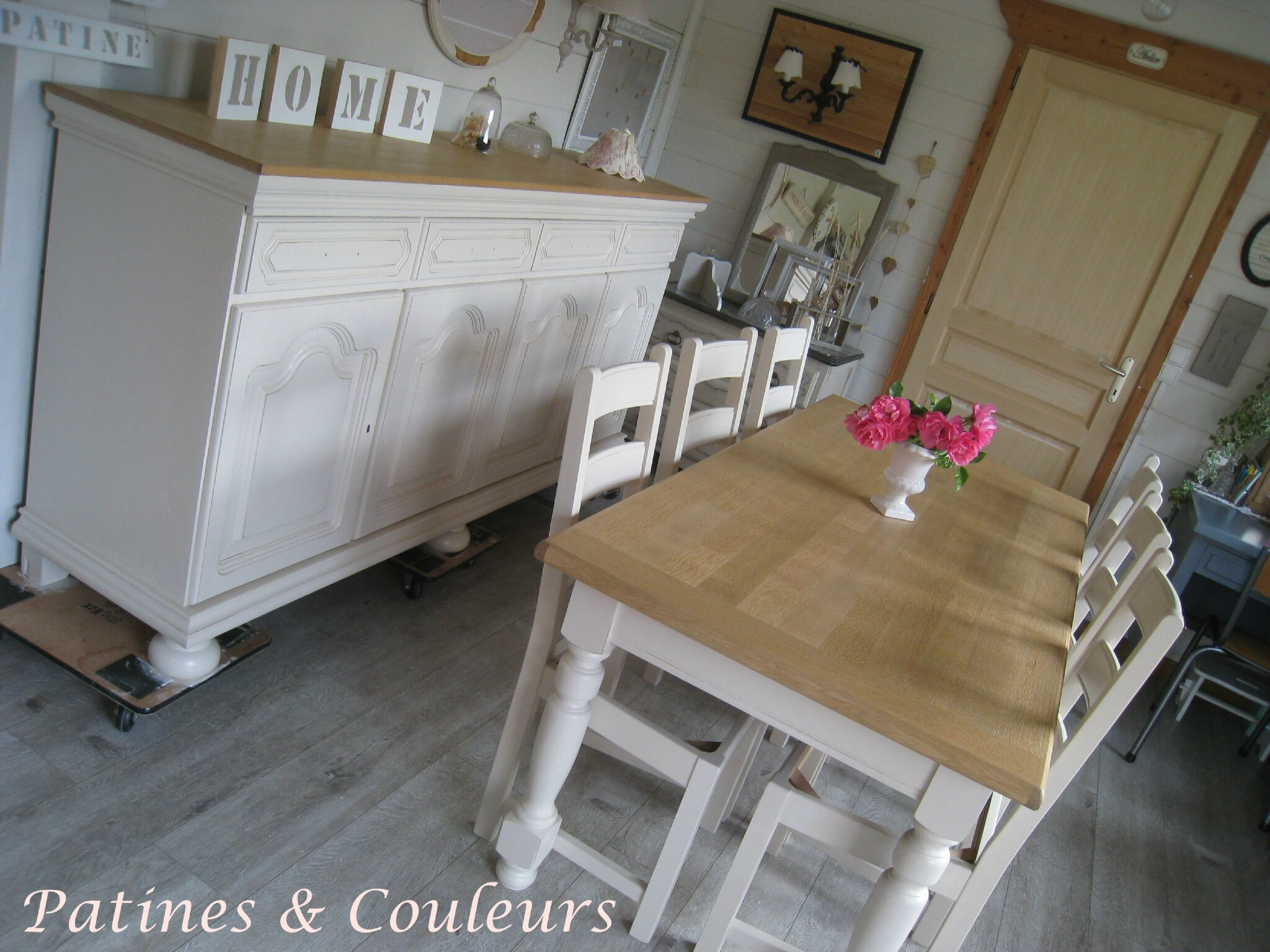 Moderniser Une Table En Chene Awesome Une Salle Manger Relooke Chne Et Htre With