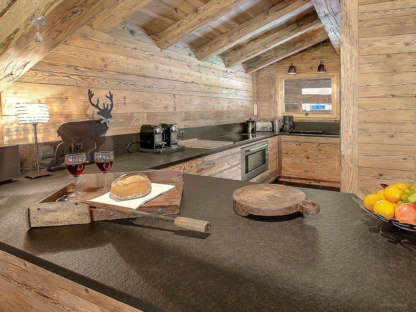 Cuisine Chalet Montagne | Chalet Montagne Pyrénées Créatif Tonnant ...