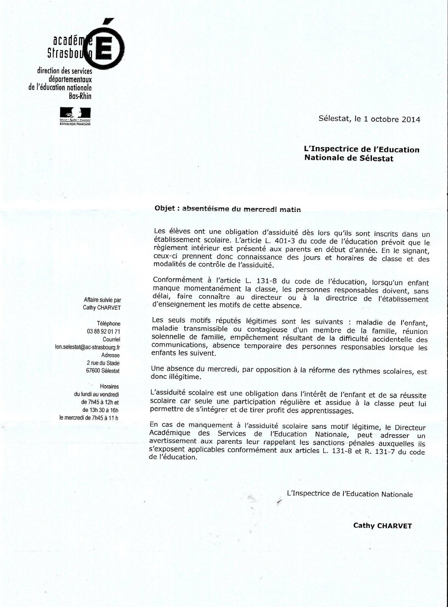 avis modele cv ministere education nationale lettre type