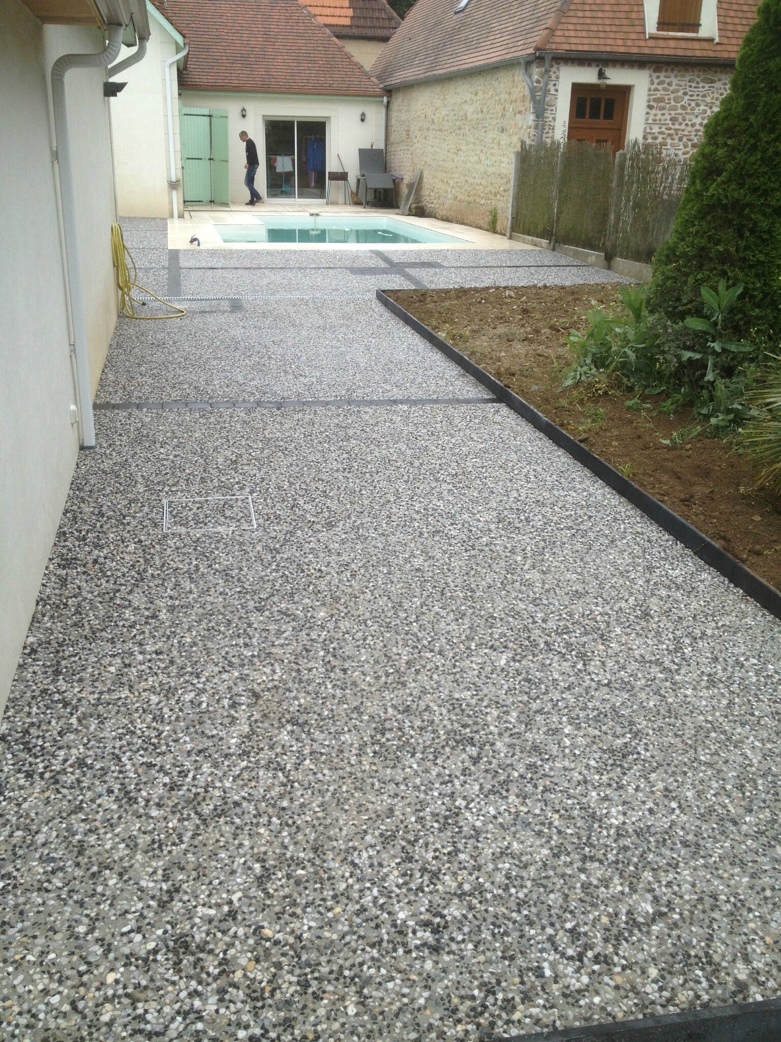 Dalle Exterieur Gris Anthracite Satp - M. Sallaberry - Amenagement Cours Terrasses Chemins