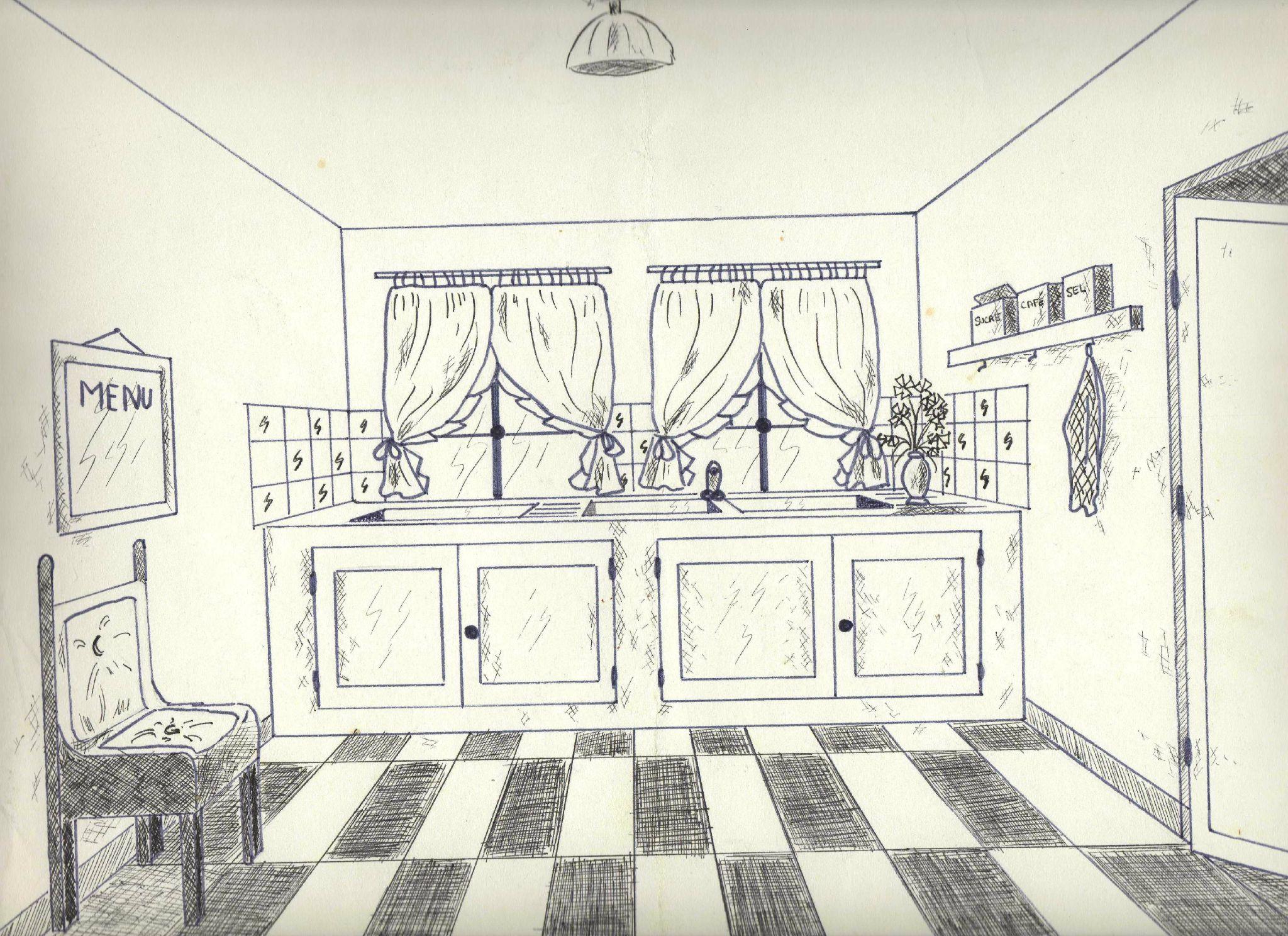 Dessin Chambre Perspective | Perspective Linéaire Site D 39arts ...