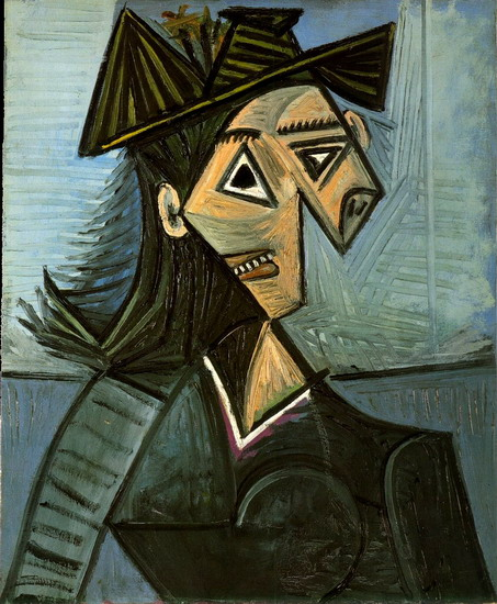 Fotos De Cuadros De Pablo Picasso Pablo Picasso — Bust Of A Woman With A Hat With Flowers, 1942