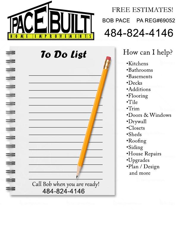Pace Built Home Improvements \u2013 Your local home improvement professional!