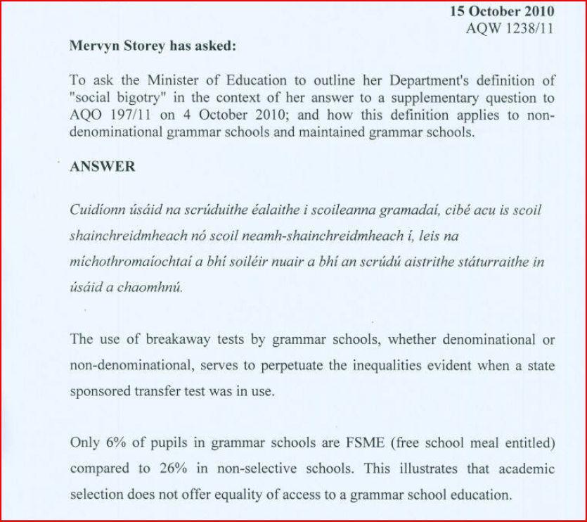 11-plus and admission procedure Pace NIreland Education Weblog