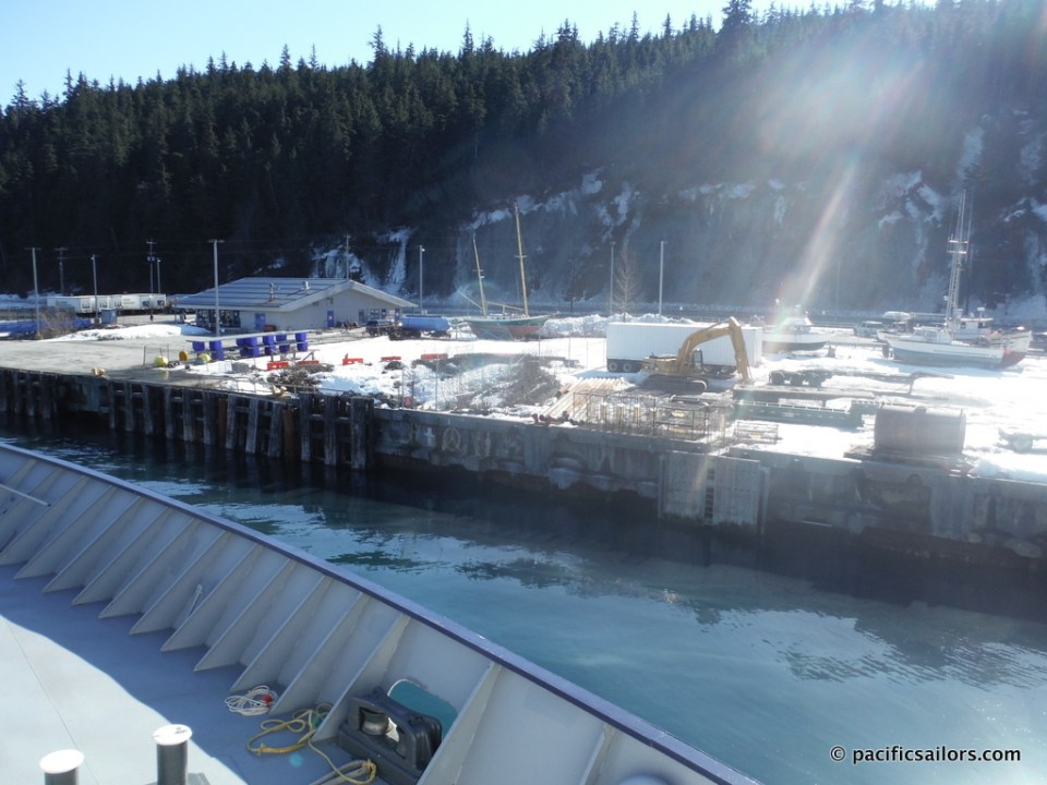 Pulling into Haines ferry dock