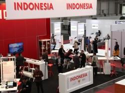 Paviliun Indonesia di arena CeBIT Hannover Jerman, 16-20 Maret 2015. Ada 12 perusahaan Indonesia yang ikut serta dalam kegiatan pameran IT terbesar dunia tersebut.