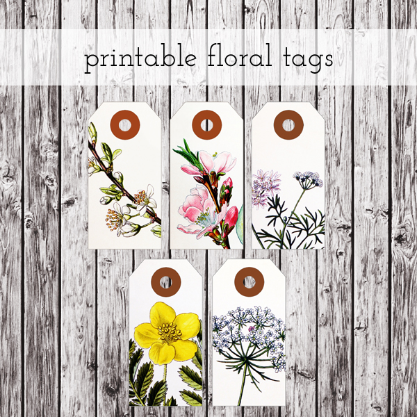 Free Download Printable Floral Tags « packagery