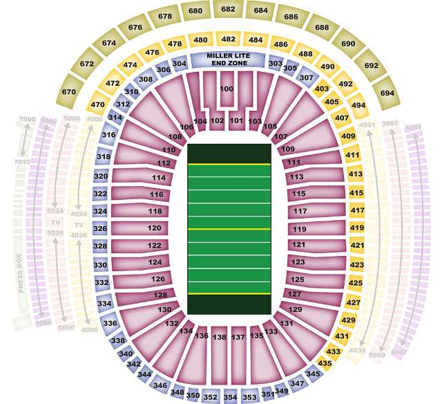 Green Bay Packers Seating Chart - PackersSeatingChart