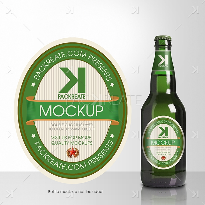 Packreate » Beer Bottle Label PSD Template - abel templates psd