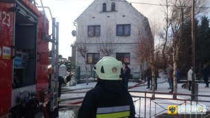 Pożar w miejscowości Topola