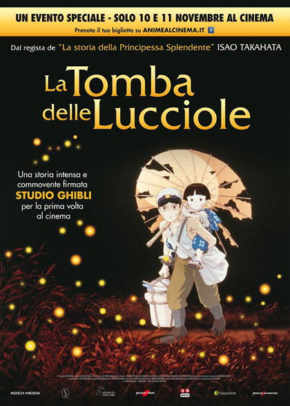 Locandina italiana La tomba delle lucciole