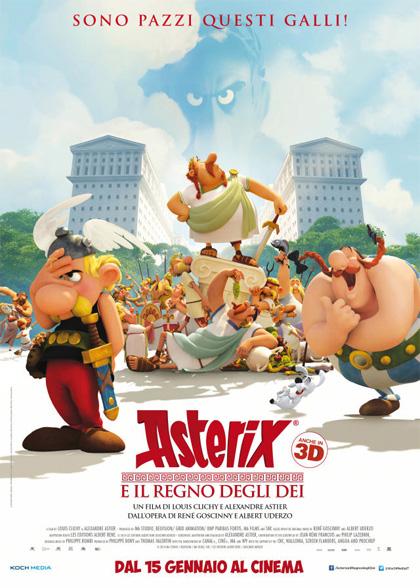 Locandina italiana Asterix e il regno degli Dei