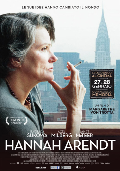 Locandina italiana Hannah Arendt