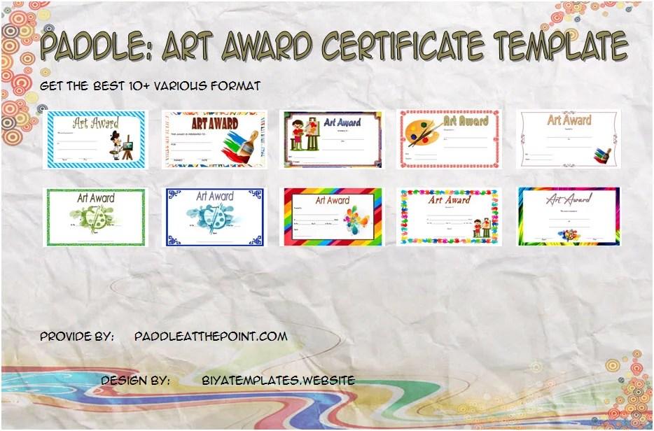 Art Award Certificate Template \u2013 10+ Best Ideas \u2013 Paddle At The
