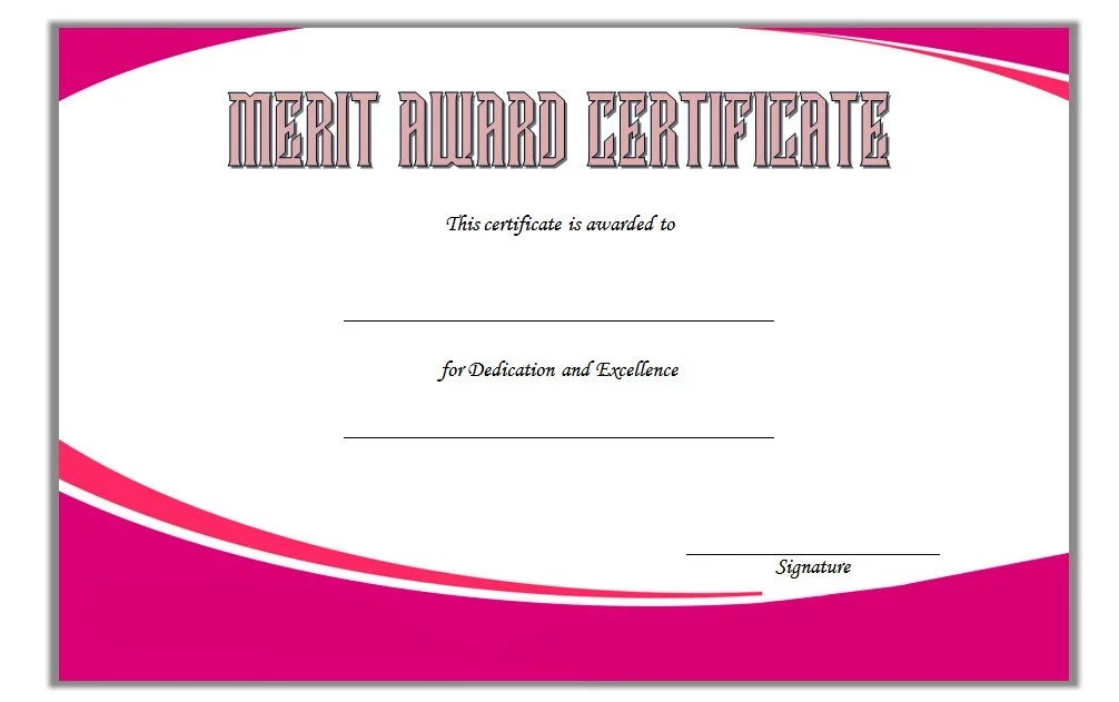 Certificate of Merit Award Template 3 Paddle At The Point