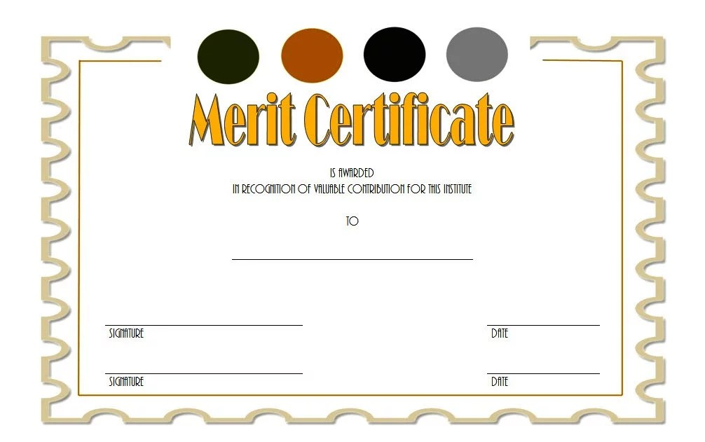 Certificate of Merit Award Template 6 Paddle At The Point