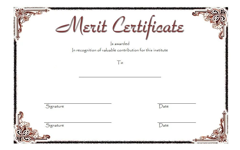 Certificate of Merit Award Template 7 Paddle At The Point