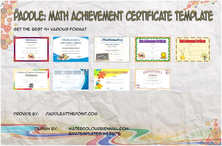Math Achievement Certificate Printable - 9+ Best Ideas