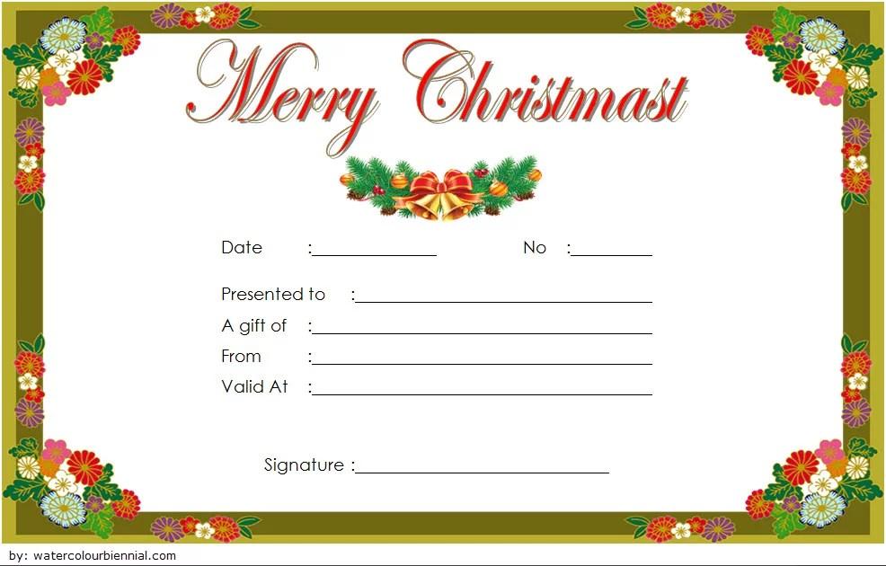 Merry Christmas Gift Certificate Templates - 10+ Best Ideas
