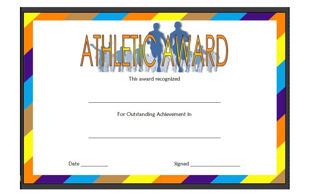 Athletic Award Certificate 3 Paddle At The Point