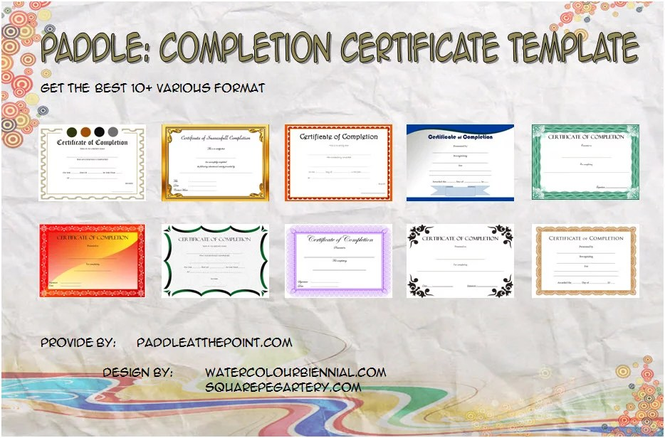 Completion Certificate Editable - 10+ Template Ideas