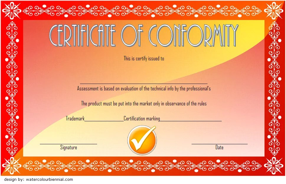 Conformity Certificate Template 2 Paddle At The Point