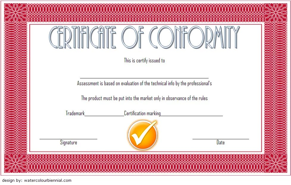 Conformity Certificate Template 4 Paddle At The Point