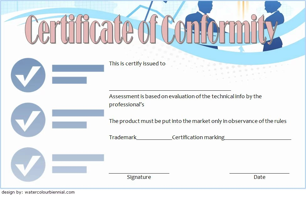 Conformity Certificate Template 5 Paddle At The Point