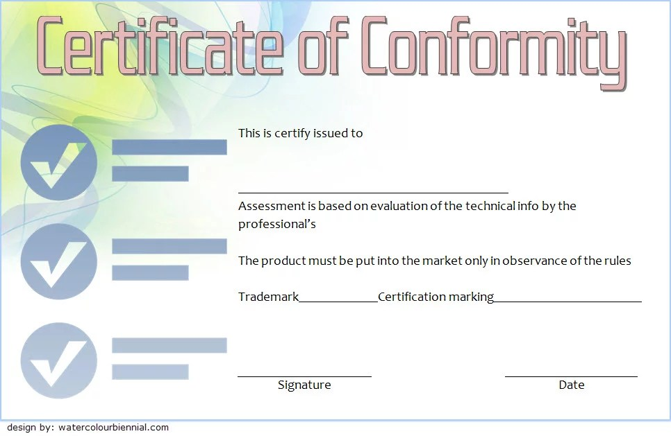 Conformity Certificate Template 7 Paddle At The Point