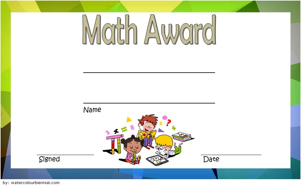 Math Award Certificate Template 5 Paddle At The Point